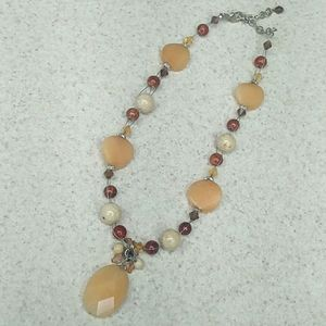 Crystal and natural stone necklace